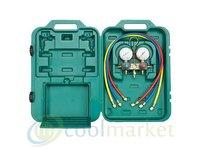 Zestaw manometrów REFCO na czynniki BM2-3-DS-R32 410/R32 z 3 wężami, manometry - zdjęcie