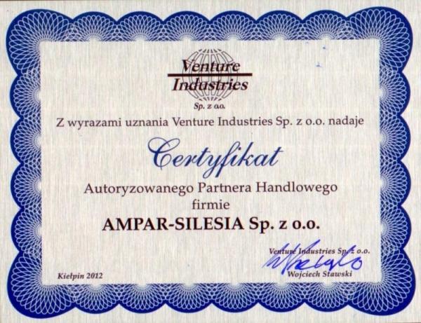 AUTORYZOWANY PARTNER VENTURE INDUSTRIES, Ampar-Silesia