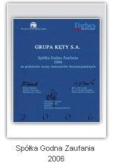 Spółka Godna Zaufania 2006 - Aluprof