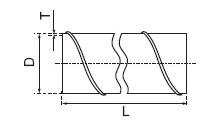 Rysunek techniczny rury zwijanej RZN (stal kwasoodporna) firmy Went-Dom