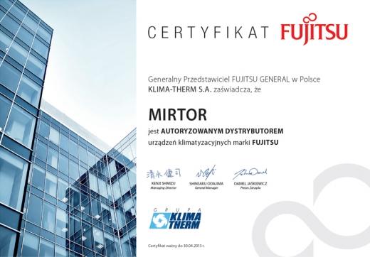 Autoryzowany dystrybutor urządzeń klimatyzacyjnych marki FUJITSU
