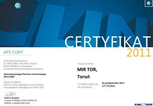 Autoryzowany Partner Serwisowy APS CLINT
