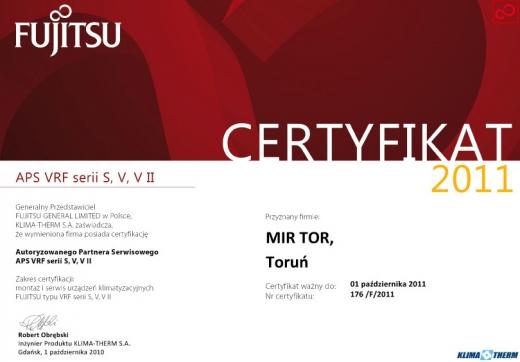 Autoryzowany Partner Serwisowy APS VRF serii S, V, VII