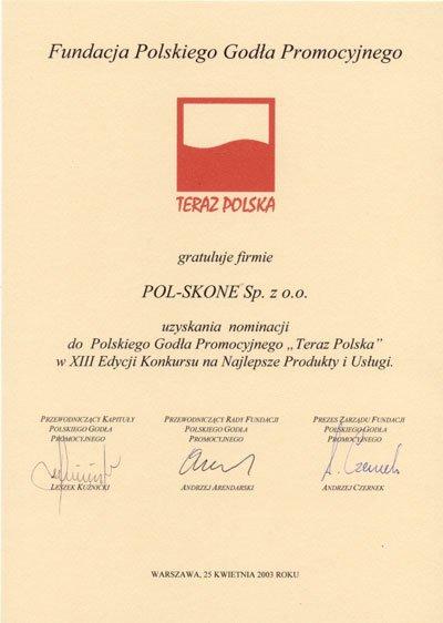 TERAZ POLSKA POL-SKONE