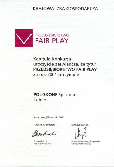 Przedsiębiorstwo FAIR PLAY POL-SKONE
