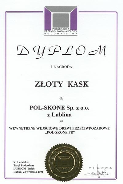 I nagroda - ZŁOTY KASK POl-SKONE