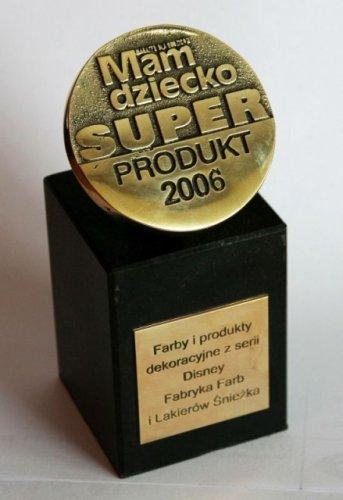 SUPER PRODUKT 2006 dla kolekcji Disney! Śnieżka