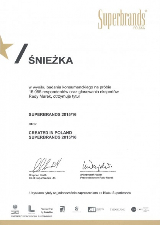 Created in Poland Superbrands 2015/16
