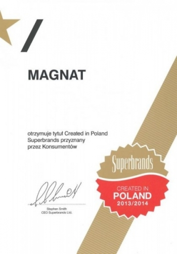 Created in Poland Superbrands 2013/2014 Śnieżka Magnat