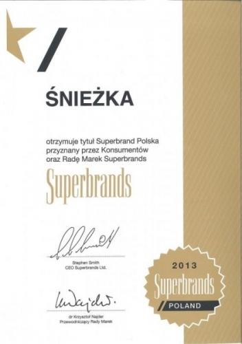 Superbrand Polska 2013 Śnieżka