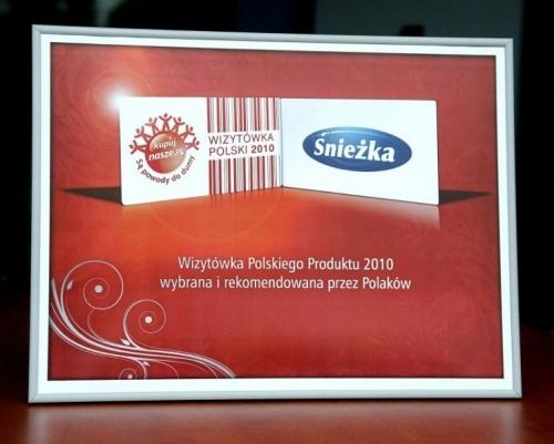 Wizytówka Polskiego Produktu 2010 Śnieżka