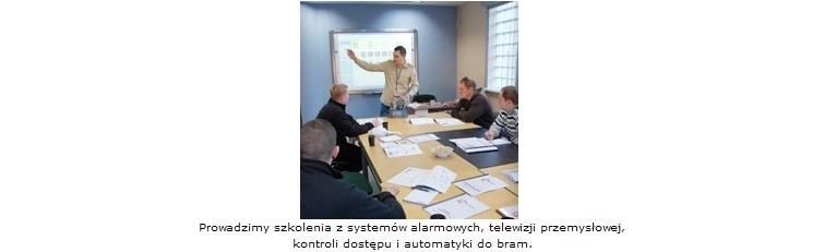 E-System, prowadzimy szkolenia z systemów alarmowych, telewizji przemysłowej, kontroli dostępu i automatyki do bram