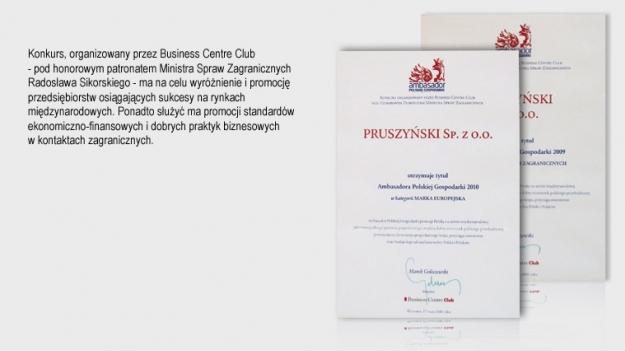 Ambasador Polskiej Gospodarki w kategorii  firmy Blachy Pruszyński
