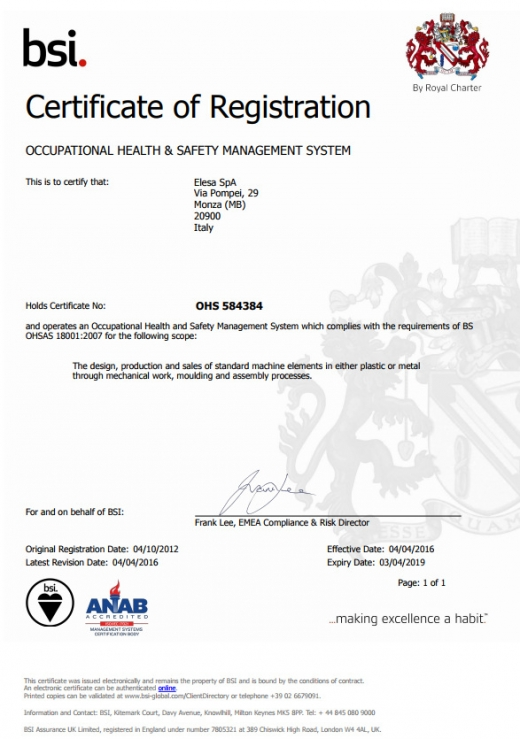 Certyfikat OHS 584384
