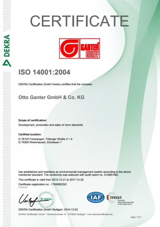 Certyfikat 14001:2004