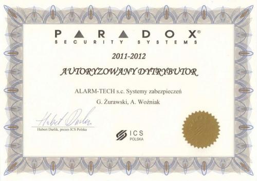 Autoryzowany dystrybutor PARADOX