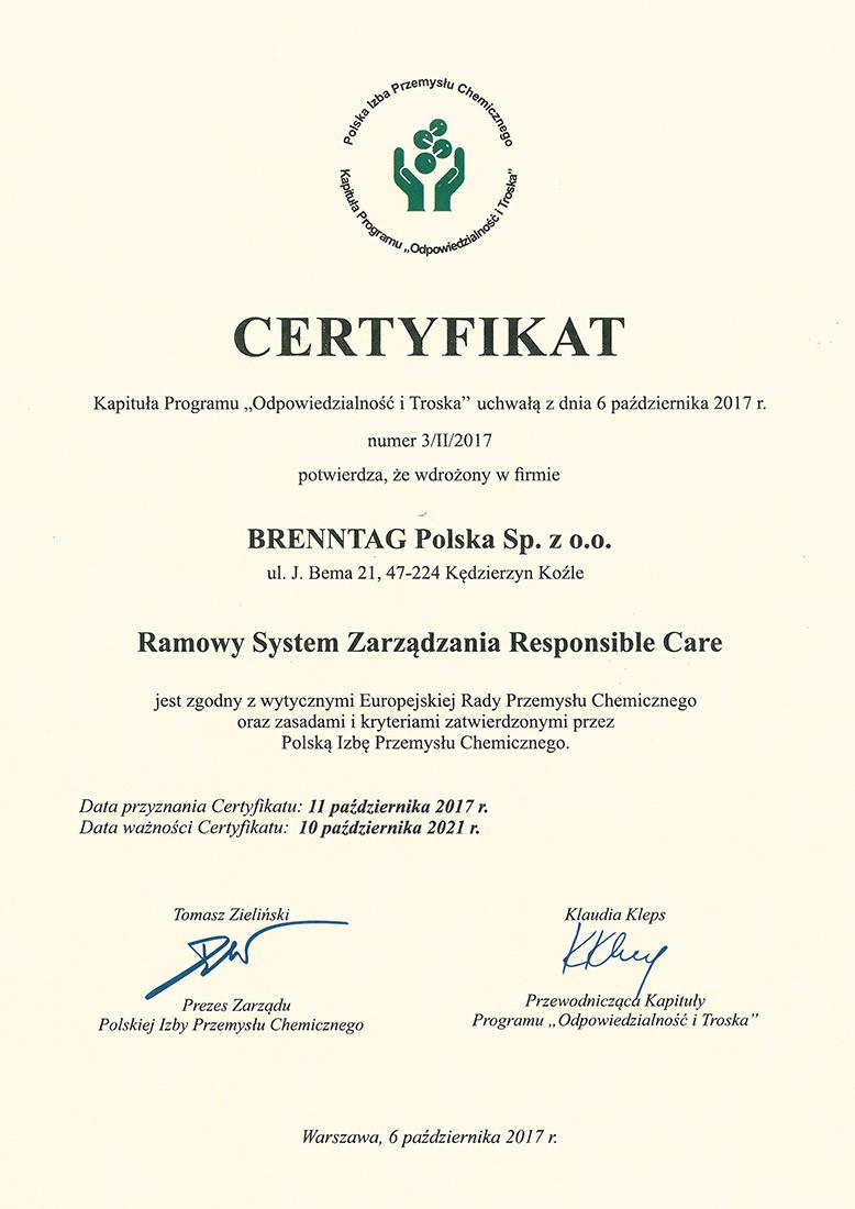 Ramowy System Zarządzania Responsible Care