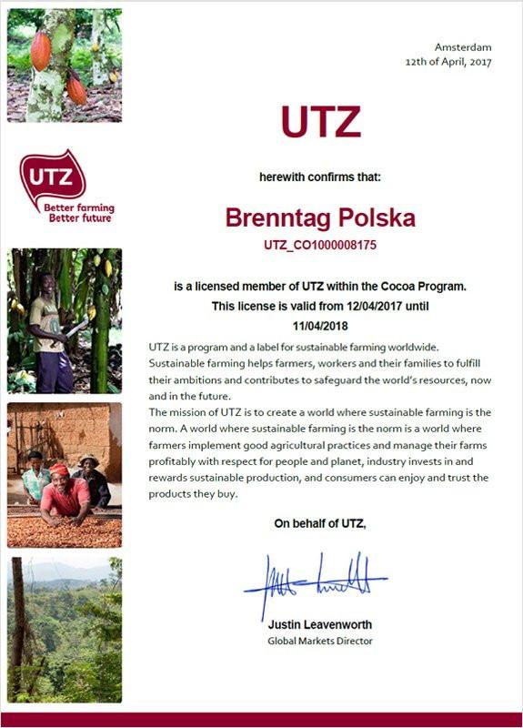 Certyfikat UTZ