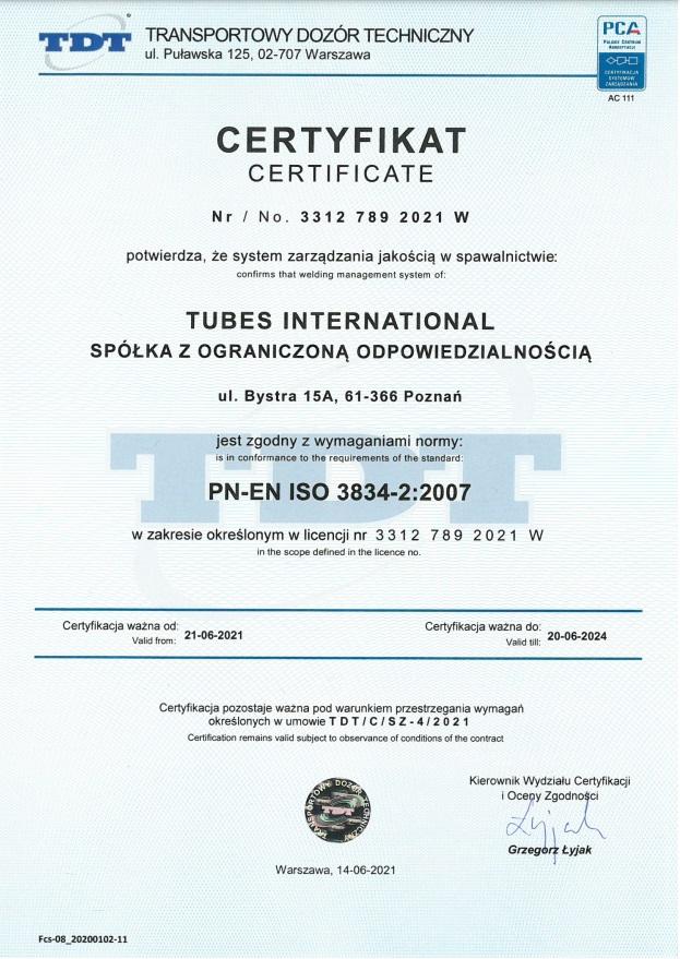 TDT 3834 - uprawnienia