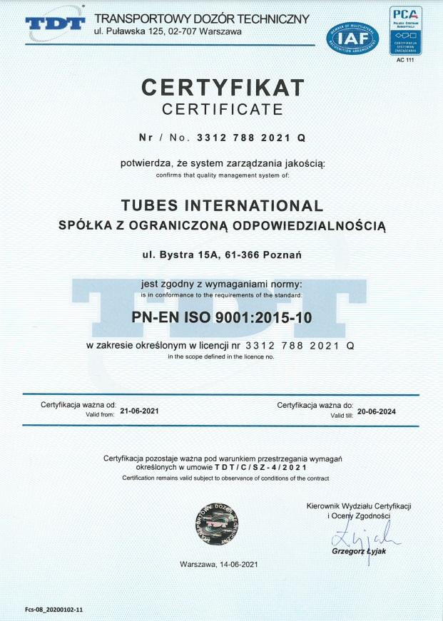 TDT 9001 - uprawnienia