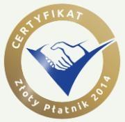 Certyfikat Złotego Płatnika 2014 ELEKTRA