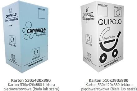 Opakowania z nadrukiem, Junek, Karton 530x420x880 tektura pięciowarstwowa (biała lub szara)