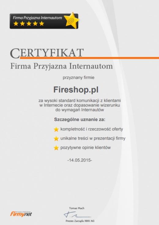 Certyfikat Firmy Przyjaznej Internautom