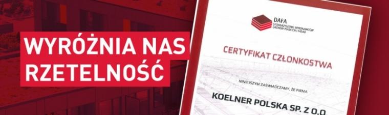 Zdobyliśmy certyfikat DAFA!