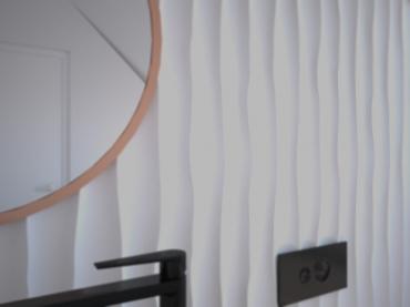 Wizualizacja: Panele styropianowe 3D - FALE #1