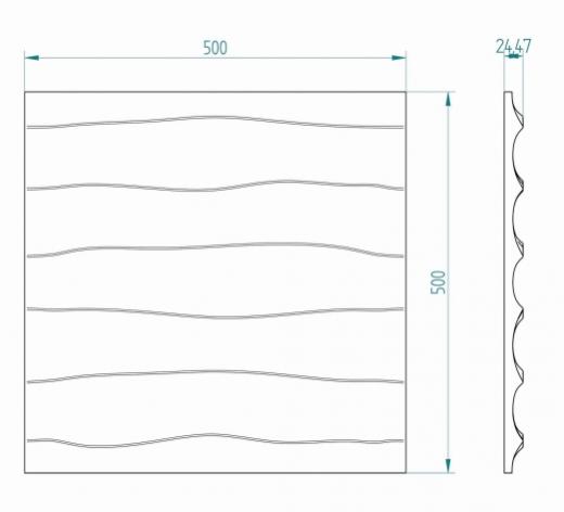 Wymiary: Panele styropianowe 3D - FALE #1