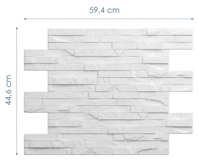 Wymiary: Panele styropianowe 3D - KAMIEŃ #2 OSTRY