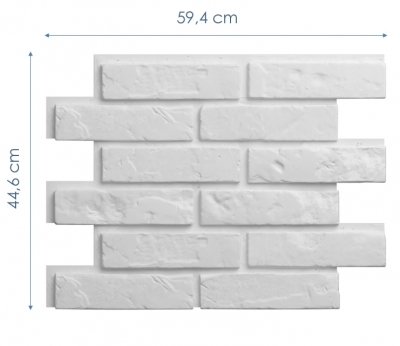 Wymiary: Panele styropianowe 3D - STARA CEGŁA #1