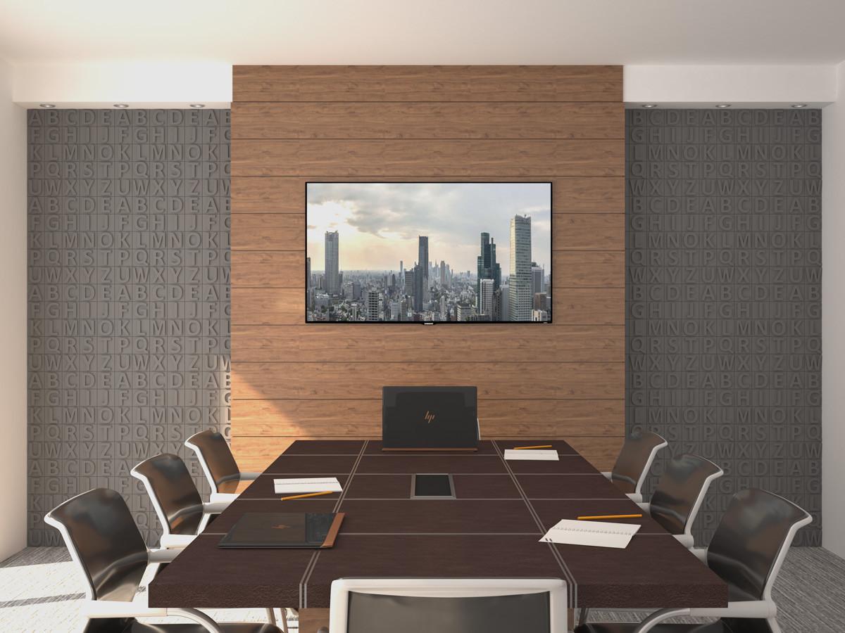 Wizualizacja: Panele styropianowe 3D - ALFABET