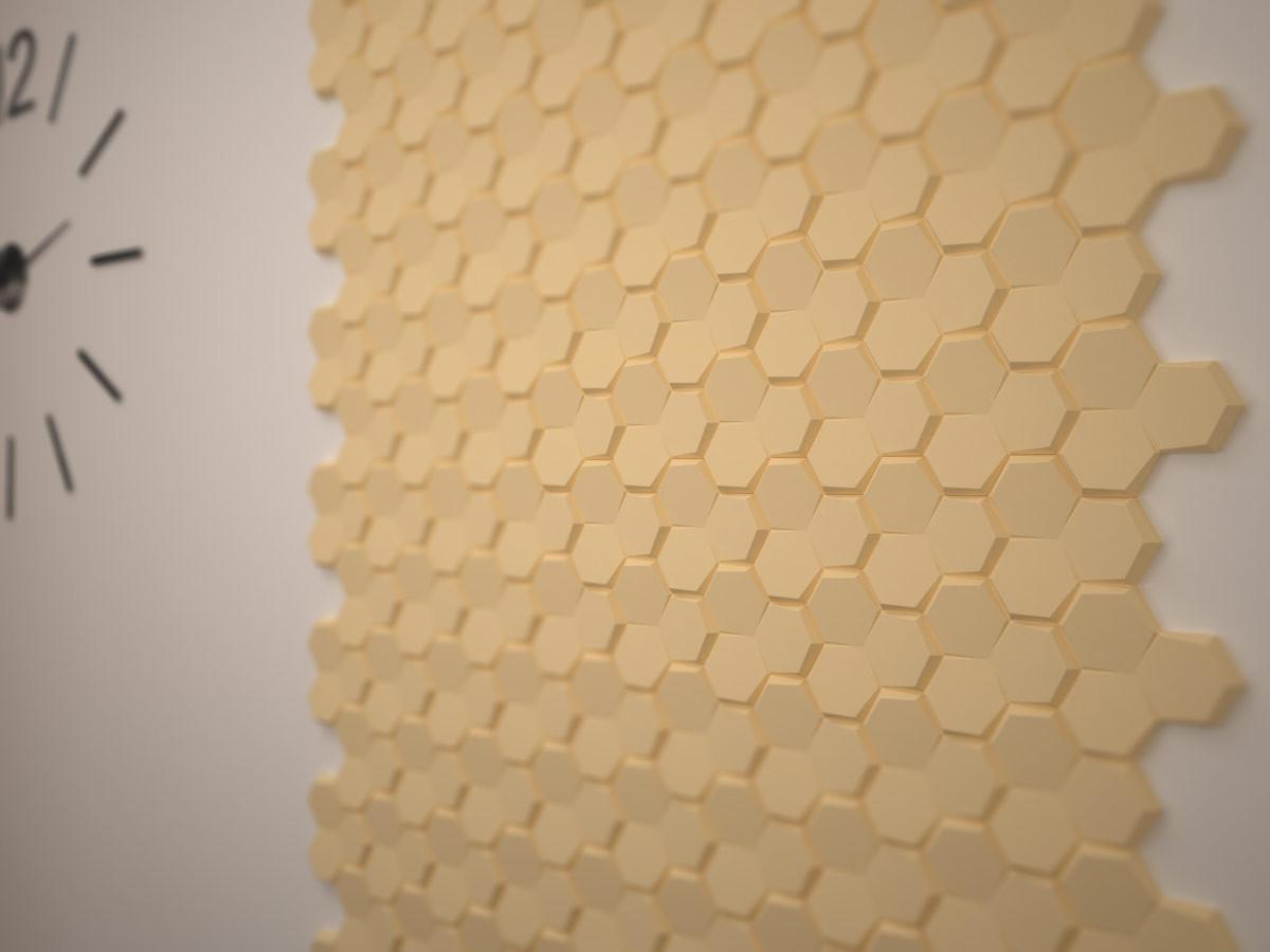 Wizualizacja: Panele styropianowe 3D - PLASTER MIODU