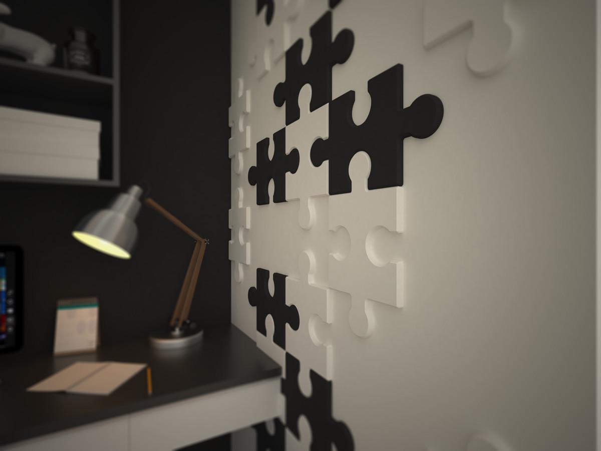 Wizualizacja: Panele styropianowe 3D - PUZZLE