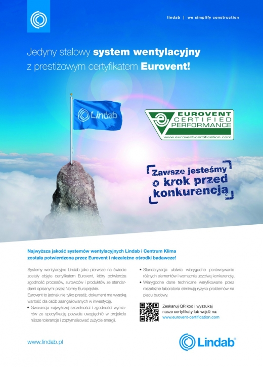 Certyfikat Eurovent Lindab
