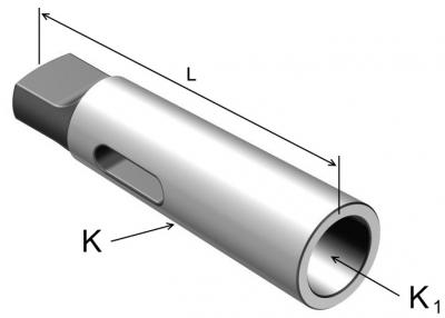 FATPOL TOOLS, Tuleje redukcyjne DIN228 do narzędzi z chwytem morse'a z płetwą