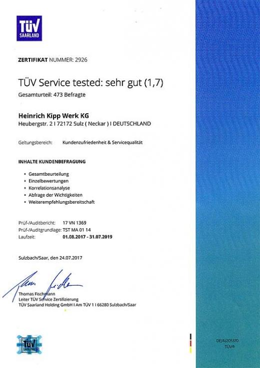 Certyfikat TÜV