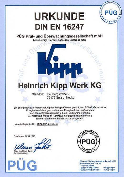 Certyfikat DIN EN 16247