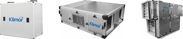 Klimor, Centrale klimatyzacyjne i wentylacyjne w wykonaniu standardowym - MCKS, Kompaktowa centrala rekuperacyjna KCX, Kompaktowa centrala wentylacyjno- klimatyzacyjna MCKT-HX, HPX