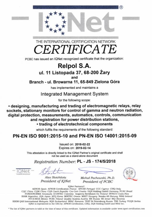 The International Certification Network Relpol