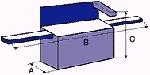 WEGA-elektronik Automatyczna maszyna do pakowania poziomego: Wymiary maszyny