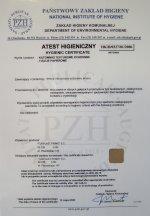 Certyfikat zgodności z normą PN-CR 13695-1:2002 (U) Turplast Primo