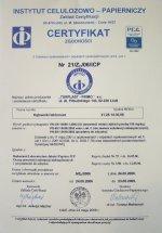 Certyfikat zgodności z normą PN-EN 13428:2002 Turplast Primo