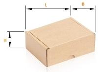 Wymiary pudełka klapowego, Pako