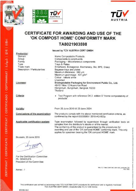 Certyfikat TUV AUSTRIA