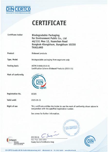 Certyfikat DIN CERTICO