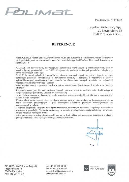LEPOLAM - Referencja POLIMAT Roman Brejecki