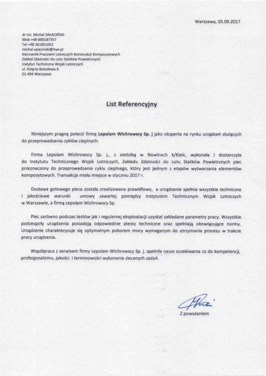 LEPOLAM - List referencyjny Instytutu Technicznego Wojsk Lotniczych