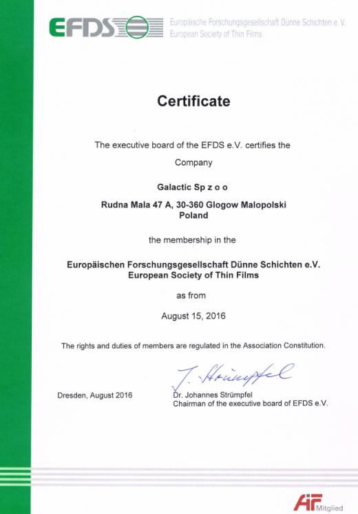 Certyfikat EPDS